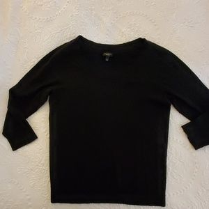 Talbots Black Scoop Neck Sweater Size Small
